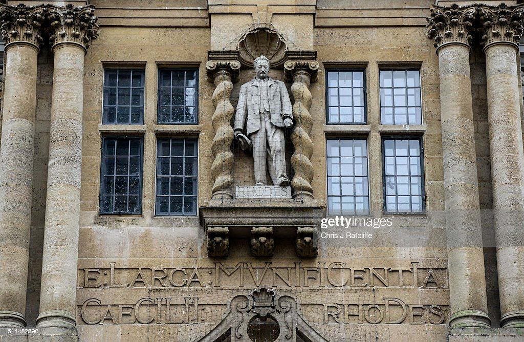 Students Call For Removal Of Cecil Rhodes Statue From Oriel College : News Photo