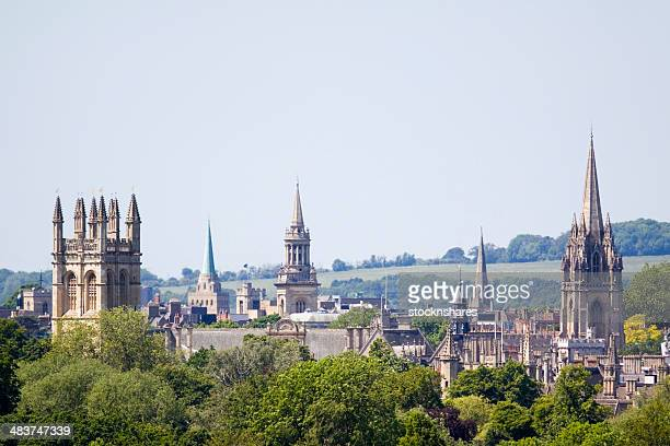 oxfords dreaming spires - oxford england stock pictures, royalty-free photos & images
