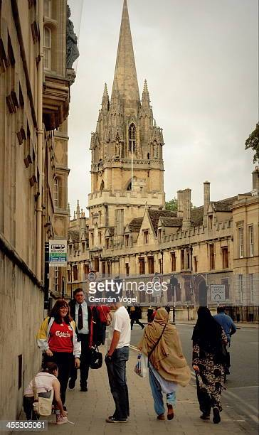 Oxford's High street skyline and multiculturalism in its streets.