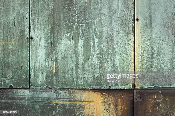 Oxidized copper door
