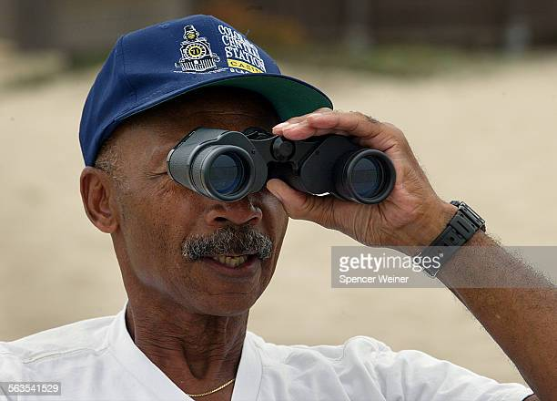 Oxnard resident Charlie Brunt volunteers his time to protect a nest and three eggs of the endangered Snowy Plover on the beach in Silver Strand Beach...