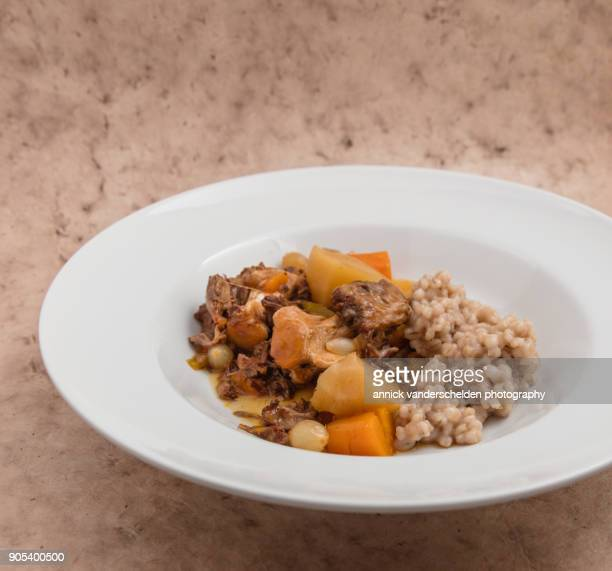 Oxtail Ragoût with barley.