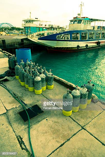 Oxygen tanks at Ishigaki Port, Ishigaki