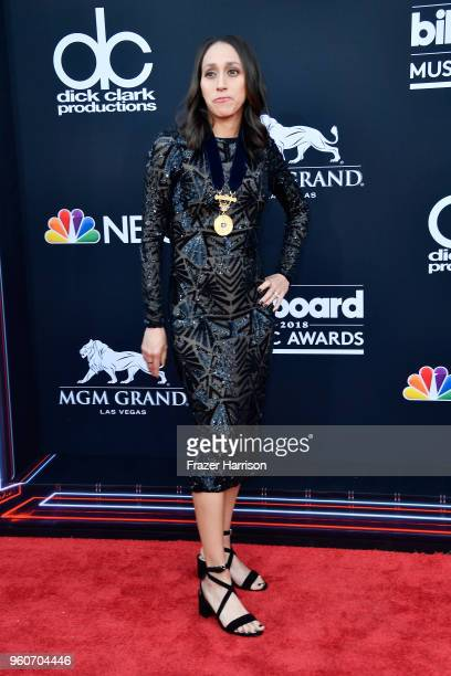 Oympic runner Desiree Linden attends the 2018 Billboard Music Awards at MGM Grand Garden Arena on May 20 2018 in Las Vegas Nevada