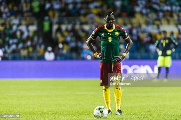 Oyongo Bitolo Ambroise of Cameroon during the African Nations Cup match between Cameroon and Gabon at Stade de L'Amitie on January 22, 2017 in...