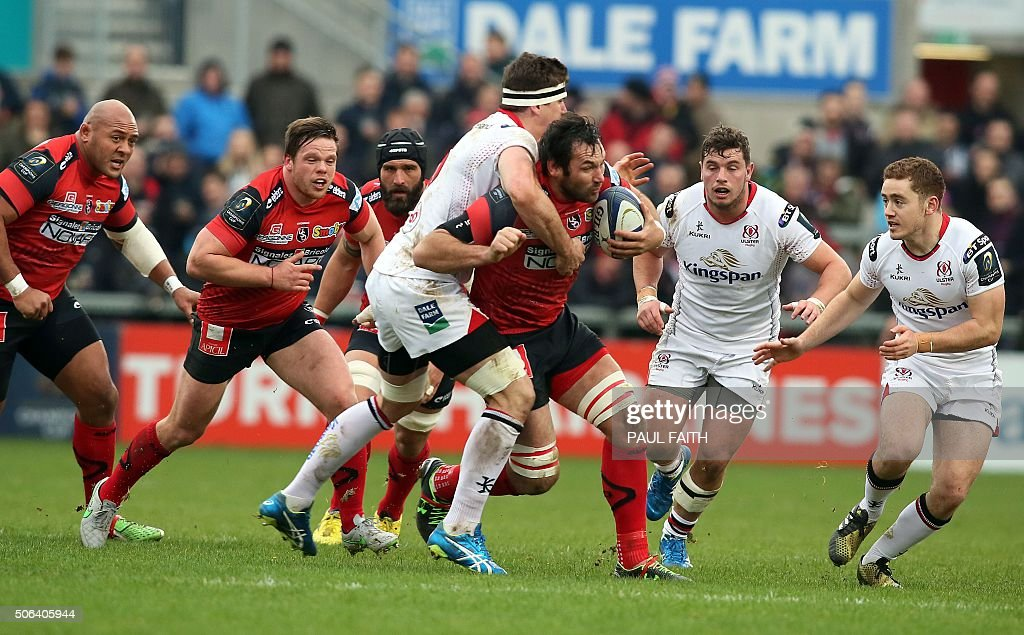RUGBYU-EUR-CUP-ULSTER-OYONNAX : News Photo