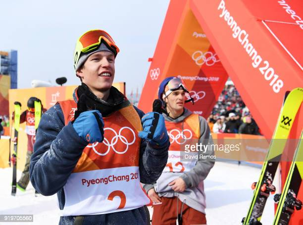 Oystein Braaten of Norway awaits to find out his score during the Freestyle Skiing Men's Ski Slopestyle Final on day nine of the PyeongChang 2018...
