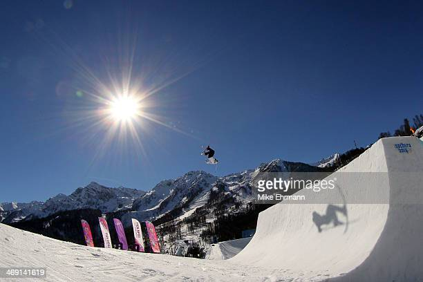 Oystein Braaten of Norway competes in the Freestyle Skiing Men's Ski Slopestyle Finals during day six of the Sochi 2014 Winter Olympics at Rosa...
