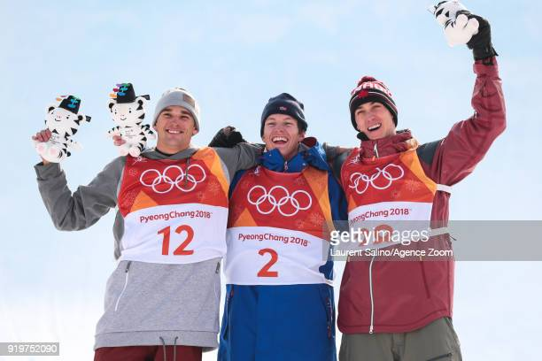 Oystein Braaten of Norway takes 1st place Nicholas Goepper of USA takes 2nd place Alex Beaulieumarchand of Canada takes 3rd place during the...