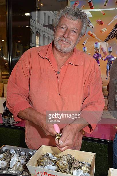 Oyster farmer Joel Dupuch attends the Fauchon Afterwork Rentree du Cap Ferret at Fauchon Madeleine on September 7 2015 in Paris France