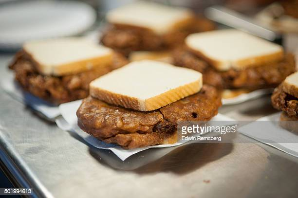 Oyster Fritter Sandwiches