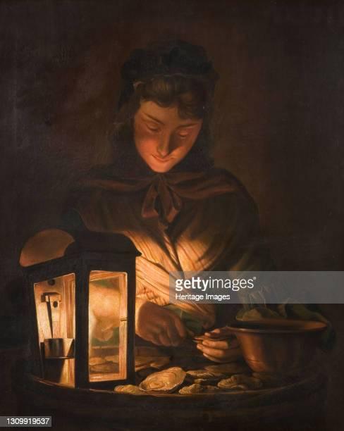 Oyster Girl, 1797. Artist Henry Robert Morland. .