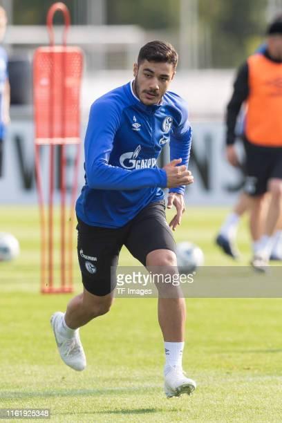 Ozan Kabak of FC Schalke 04 looks on during the Schalke 04 Training Session on August 15 2019 in Gelsenkirchen Germany