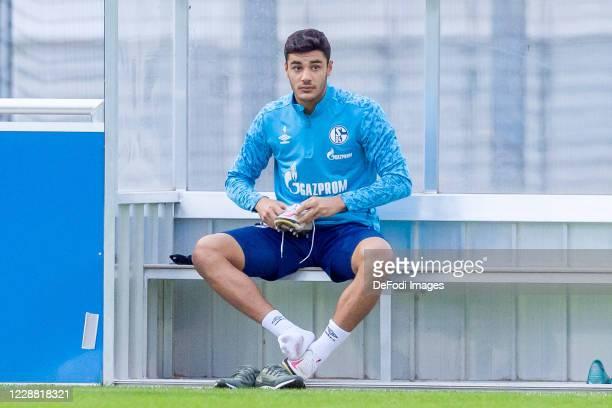 Ozan Kabak of FC Schalke 04 looks on during the Training of FC Schalke 04 at Parkstadion on September 30, 2020 in Gelsenkirchen, Germany.