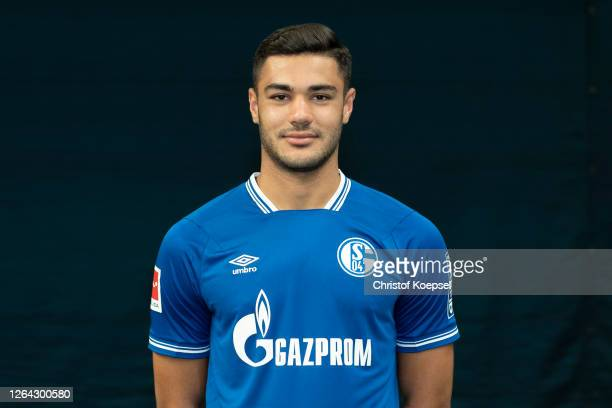 Ozan Kabak of FC Schalke 04 poses during the team presentation at Football Hall on August 06, 2020 in Gelsenkirchen, Germany.