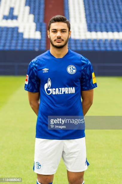 Ozan Kabak of Schalke poses during the team presentation at VeltinsArena on July 10 2019 in Gelsenkirchen Germany