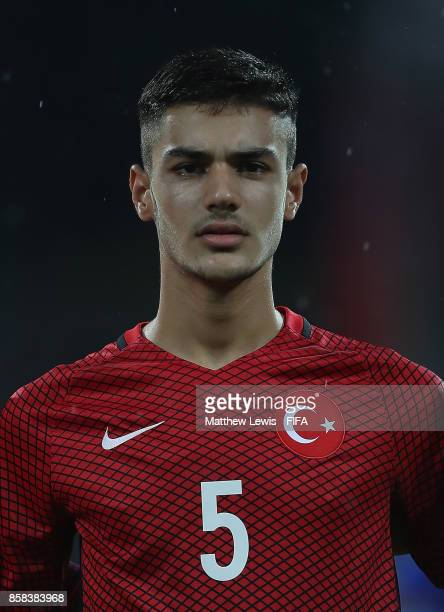 Ozan Kabak of Turkey looks on during the FIFA U17 World Cup India 2017 group B match between New Zealand and Turkey at Dr DY Patil Cricket Stadium on...