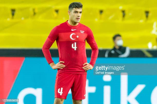 Ozan Kabak of Turkey looks on during the international friendly match between Germany and Turkey at RheinEnergieStadion on October 7, 2020 in...