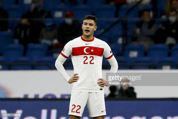 Ozan Kabak of Turkey reacts during the UEFA Nations League B - Group 3 match between Russia and Turkey at Dinamo Stadium in Moscow, Russia on October...