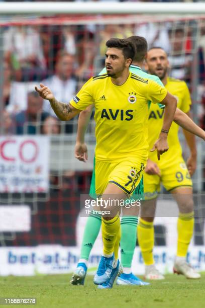 Ozan Tufan of Fenerbahce Istanbul celebrates after scoring his team's third goal during the Audi cup 2019 3rd place match between Real Madrid and...