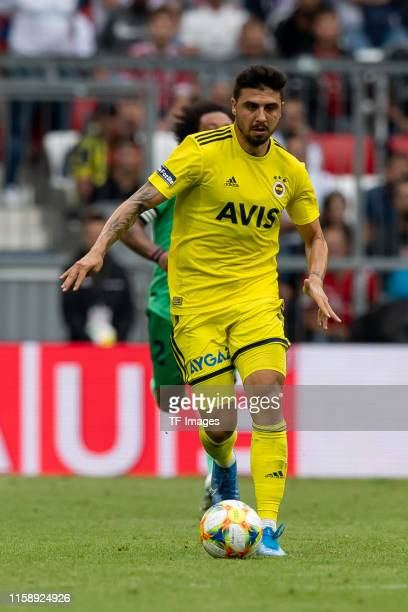 Ozan Tufan of Fenerbahce Istanbul controls the ball during the Audi cup 2019 3rd place match between Real Madrid and Fenerbahce at Allianz Arena on...