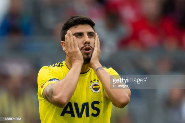 Ozan Tufan of Fenerbahce Istanbul looks on during the Audi cup 2019 3rd place match between Real Madrid and Fenerbahce at Allianz Arena on July 31...