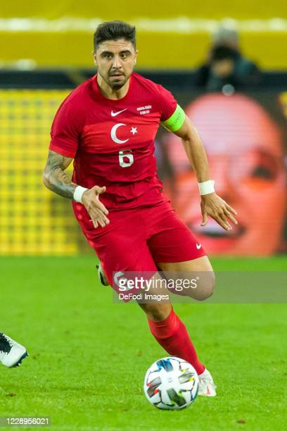 Ozan Tufan of Turkey controls the ball during the international friendly match between Germany and Turkey at RheinEnergieStadion on October 7 2020 in...