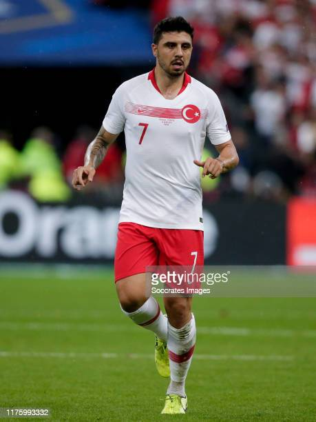 Ozan Tufan of Turkey during the EURO Qualifier match between France v Turkey at the Stade de France on October 14 2019 in Paris France