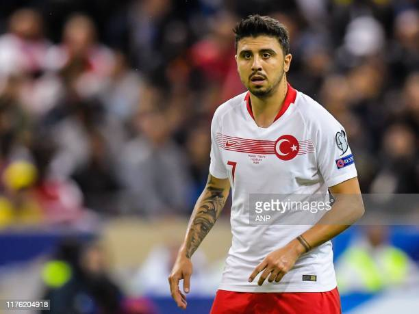 Ozan Tufan of Turkey during the UEFA EURO 2020 qualifier group C qualifying match between France v Turkye at Stade de France on October 14 2019 in...