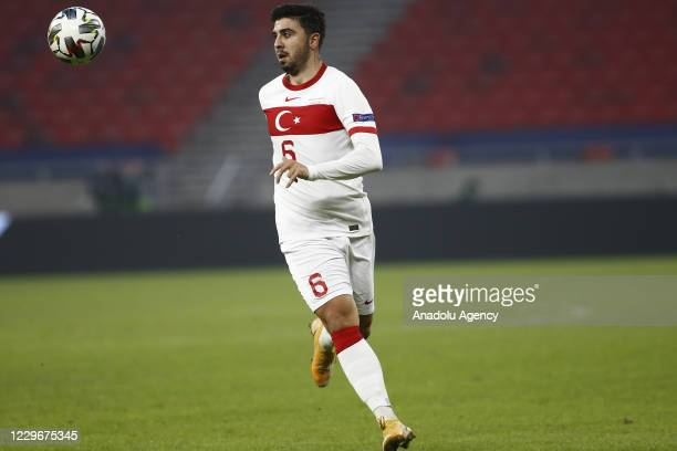 Ozan Tufan of Turkey in action during the UEFA Nations League match between Hungary and Turkey at Puskas Arena in Budapest, Hungary on November 18,...