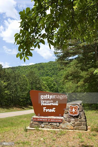 ozark national forest sign - national forest stock pictures, royalty-free photos & images