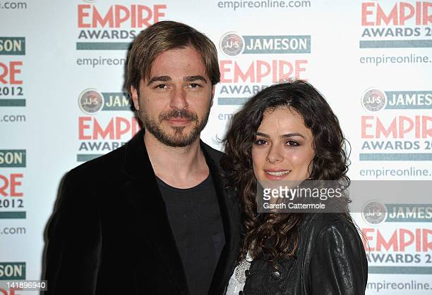 Ozge Ozipinric and Engin Altan Duzyatan attends the 2012 Jameson Empire Awards at the Grosvenor House Hotel on March 25 2012 in London England