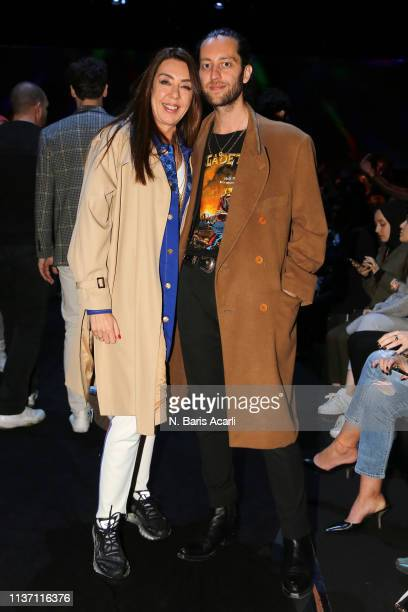 Ozge Sarikadilar and Kaner Kivanc attend the Brand Who show during the MercedesBenz Fashion Week Istanbul March 2019 at Zorlu Center on March 20 2019...