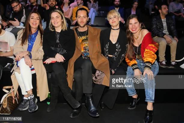 Ozge Sarikadilar Yasemin Berkman Kaner Kivanc Zeynep Uner and Zeynep Tosun attend the Brand Who show during the MercedesBenz Fashion Week Istanbul...
