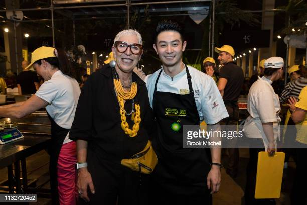 OzHarvest CEO Ronni Kahn poses for a picture with Reynold Poernomo at OzHarvest CEO Cookoff on March 25 2019 in Sydney Australia