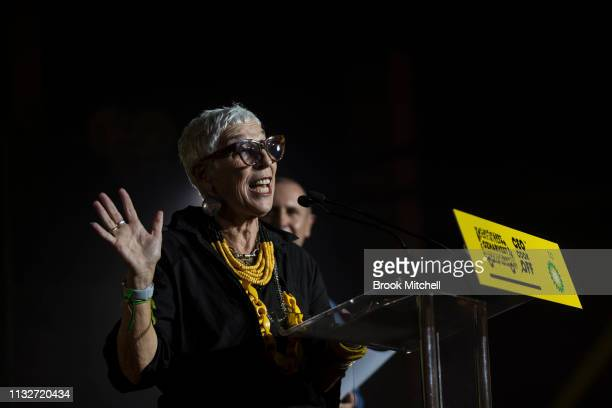 OzHarvest CEO Ronni Kahn speaks at the OzHarvest CEO Cookoff on March 25 2019 in Sydney Australia