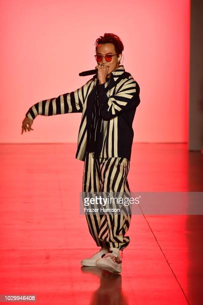 Ozi performs on the runways at the Just In XX show during New York Fashion Week The Shows at Gallery II at Spring Studios on September 9 2018 in New...