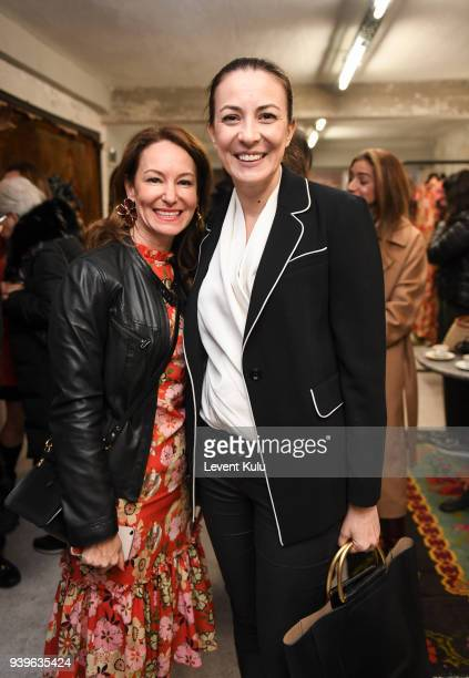 Ozlem Gusar and guest attend the Asli Filinta show during Mercedes Benz Fashion Week Istanbul at on March 29 2018 in Istanbul Turkey