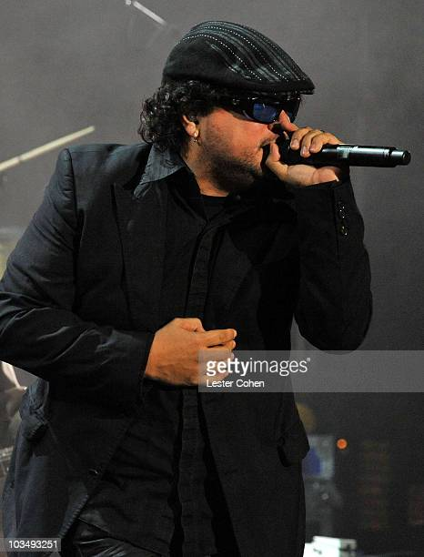 Ozomatli perform at the 2010 MusiCares Person Of The Year Tribute To Neil Young at the Los Angeles Convention Center on January 29, 2010 in Los...