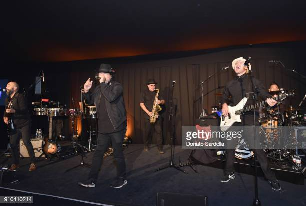 Ozomatli performs onstage during Learning Lab Ventures Gala in Partnership with NETAPORTER on January 25 2018 in Beverly Hills California