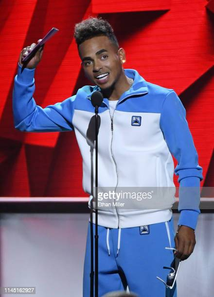 Ozuna accepts the Artist of the Year award during the 2019 Billboard Latin Music Awards at the Mandalay Bay Events Center on April 25 2019 in Las...