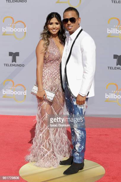 Ozuna and guest attend the 2018 Billboard Latin Music Awards at the Mandalay Bay Events Center on April 26 2018 in Las Vegas Nevada