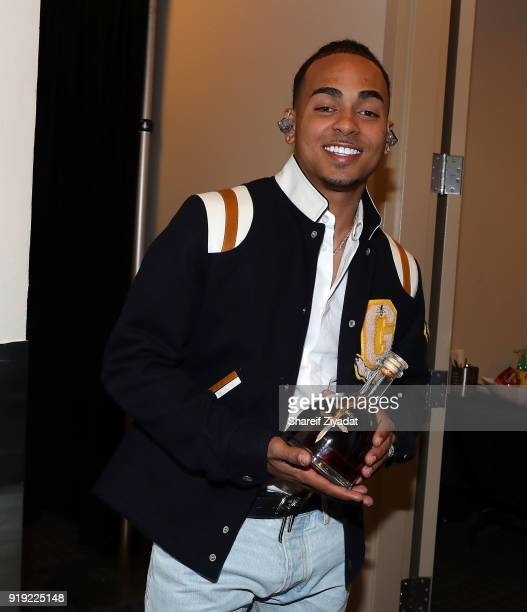 Ozuna attends Romeo Santos In Concert at Madison Square Garden on February 16 2018 in New York City