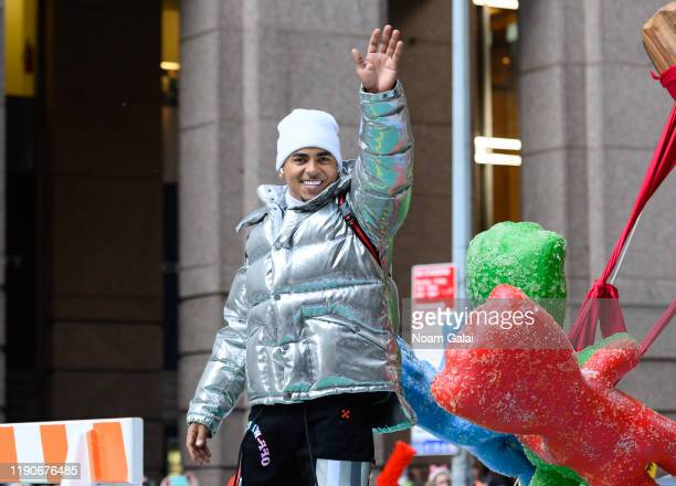 Ozuna attends the 93rd Annual Macy's Thanksgiving Day Parade on November 28 2019 in New York City