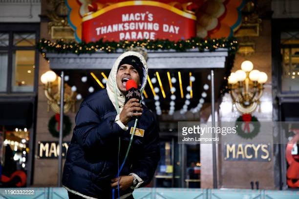 Ozuna performs during the 93rd Annual Macy's Thanksgiving Day Parade rehearsals at Macy's Herald Square on November 26 2019 in New York City