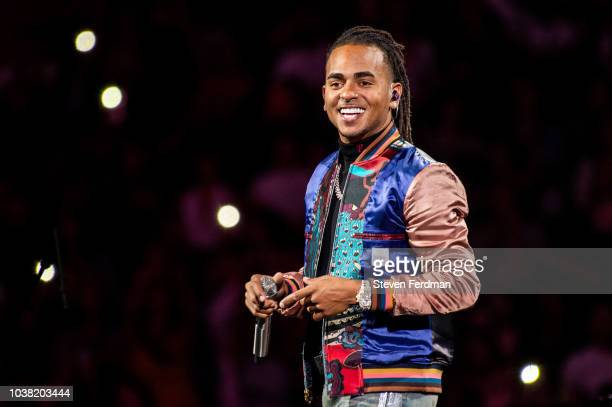 Ozuna performs live in concert at Madison Square Garden on September 22 2018 in New York City