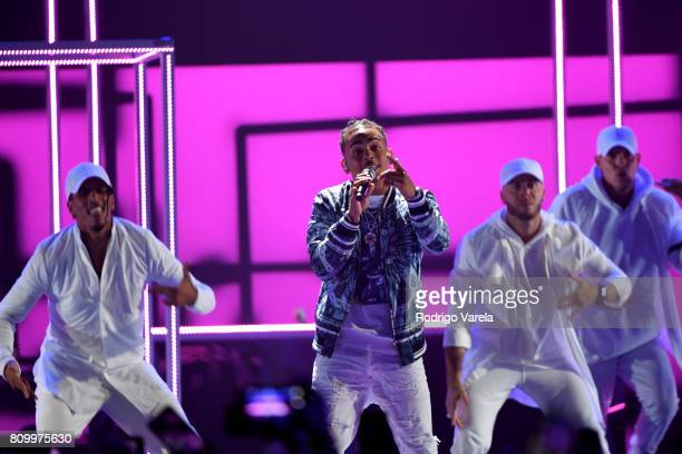 Ozuna performs on stage during Univision's 'Premios Juventud' 2017 Celebrates The Hottest Musical Artists And Young Latinos ChangeMakers at Watsco...