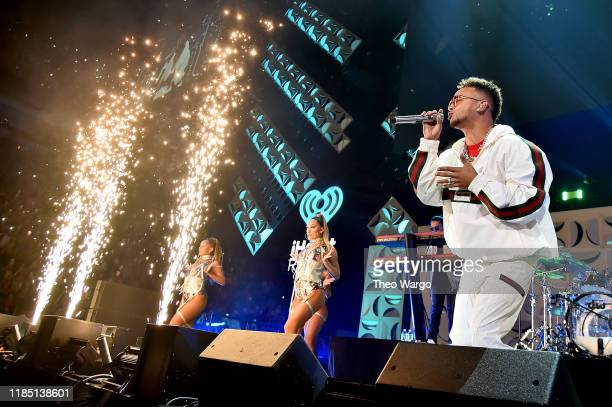 Ozuna performs onstage at the 2019 iHeartRadio Fiesta Latina at AmericanAirlines Arena on November 2 2019 in Miami Florida