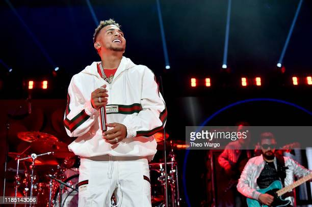 Ozuna performs onstage at the 2019 iHeartRadio Fiesta Latina at AmericanAirlines Arena on November 2, 2019 in Miami, Florida.