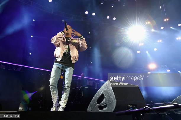 Ozuna performs onstage during Calibash Los Angeles 2018 at Staples Center on January 20 2018 in Los Angeles California